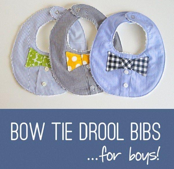 Gingham /& Seersucker Tie Bowtie Baby Shower GIFT Little Man Set of 2 Baby Bibs