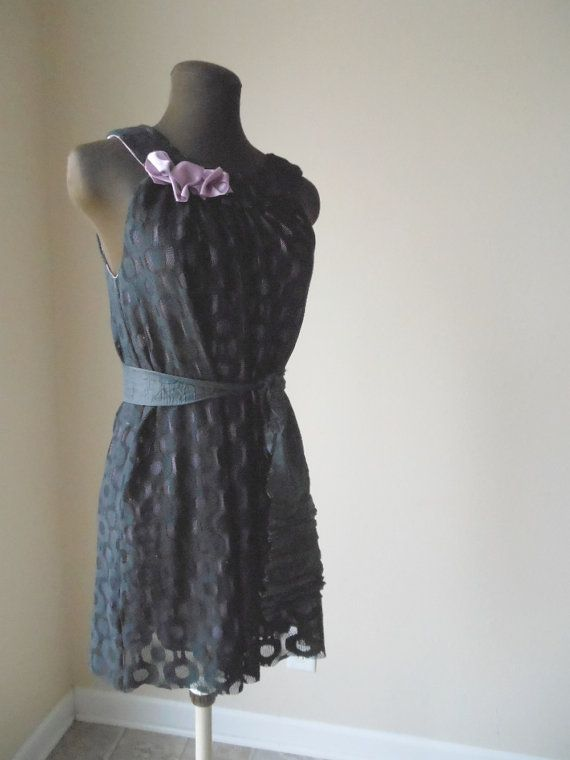 Boho Black Lace Gown Orchid Pink Formal Evening Party by colorada, $90.00