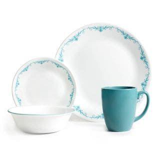 Corelle Garden Lace 16-Piece Dinnerware Set (Garden Lace) Blue (Stoneware Floral)  sc 1 st  Pinterest & Corelle Garden Lace 16-Piece Dinnerware Set (Garden Lace) Blue ...
