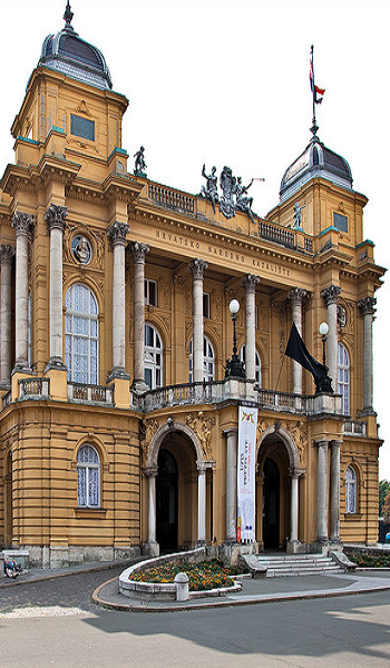 National Theatre Zagreb Our Tips For Things To Do In Zagreb Http Www Europealacarte Co Uk Blog 2011 03 31 Things To Croatia Zagreb Croatia Croatia Travel