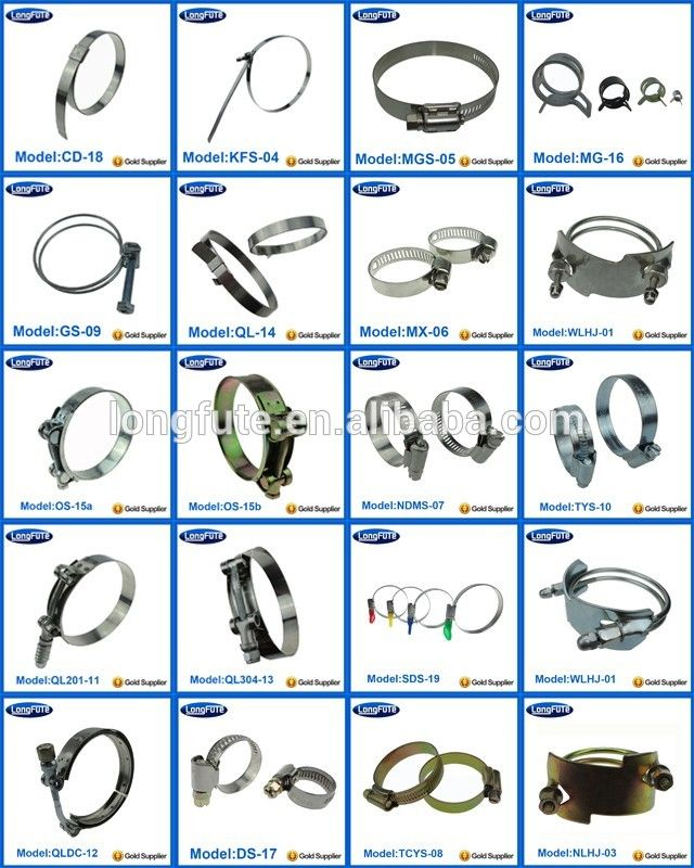 China Factory Outlet Stainless Steel Types Of Hose Clamp