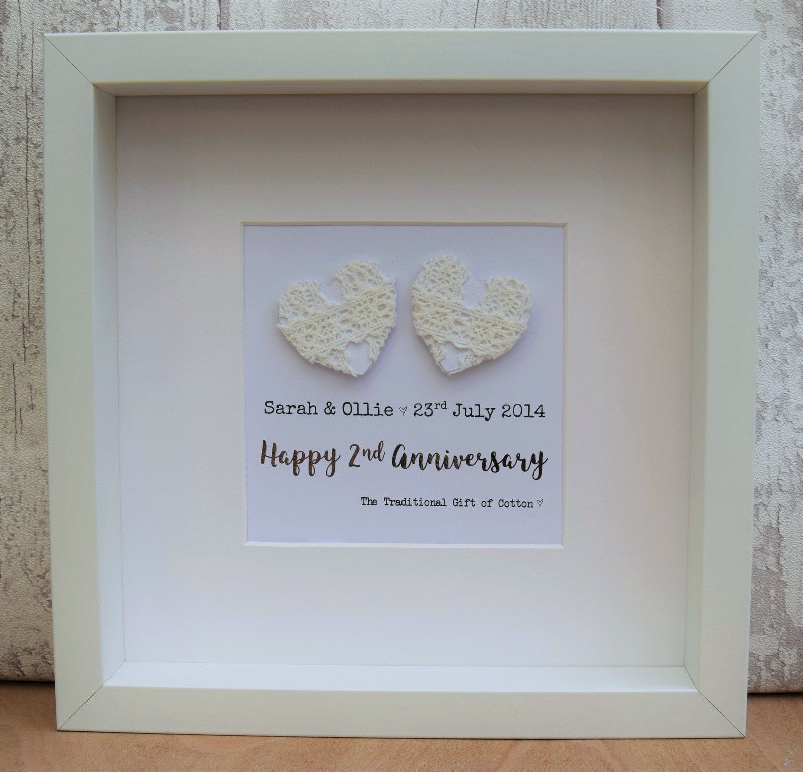 2nd wedding anniversary gift cotton large contemporary