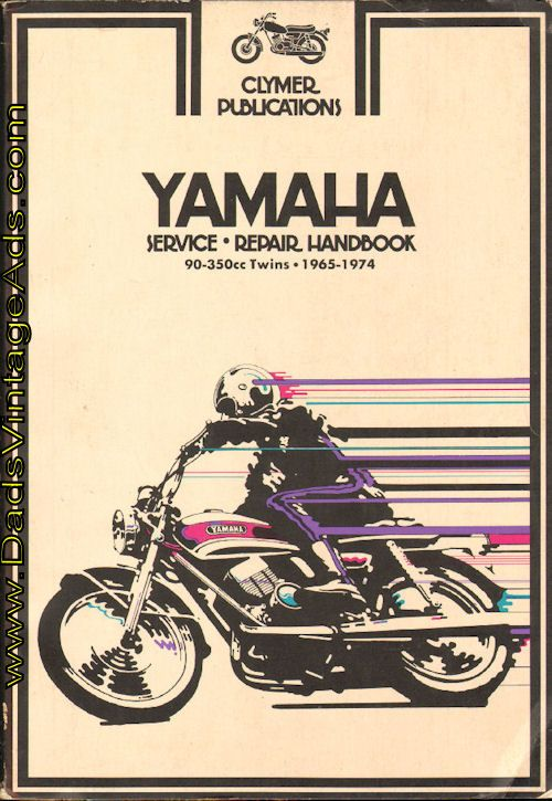 1965 1974 yamaha 90 350cc twins clymer motorcycle repair manual rh pinterest com motorcycle repair manuals online for free motorcycle repair manual free