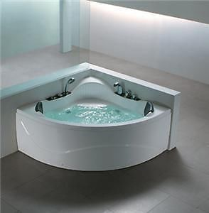 *Smaller - 1200cm Whirlpool Corner Two Person Bath Massage Jets Jacuzzi | eBay