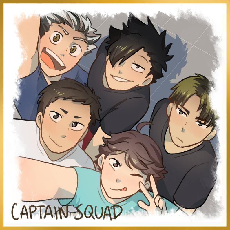 Haikyuu Shikishi Boards Captain Squad Pretty Setter Squads Etsy In 2021 Haikyuu Fanart Haikyuu Characters Haikyuu