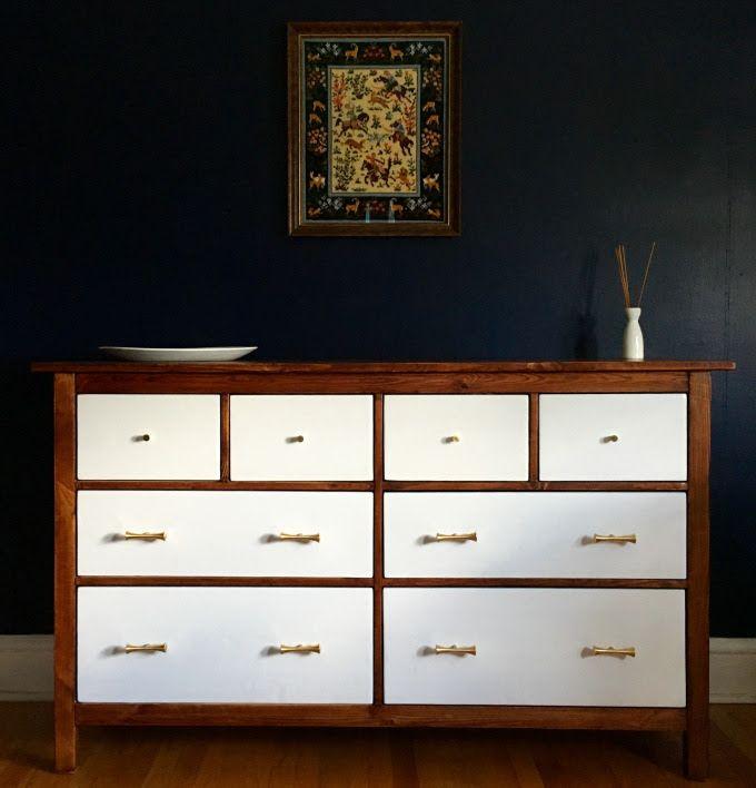 IKEA Hemnes Dresser Turned Mid Century Modern · Ikea MakeoverRefurbished  FurnitureBedroom ...