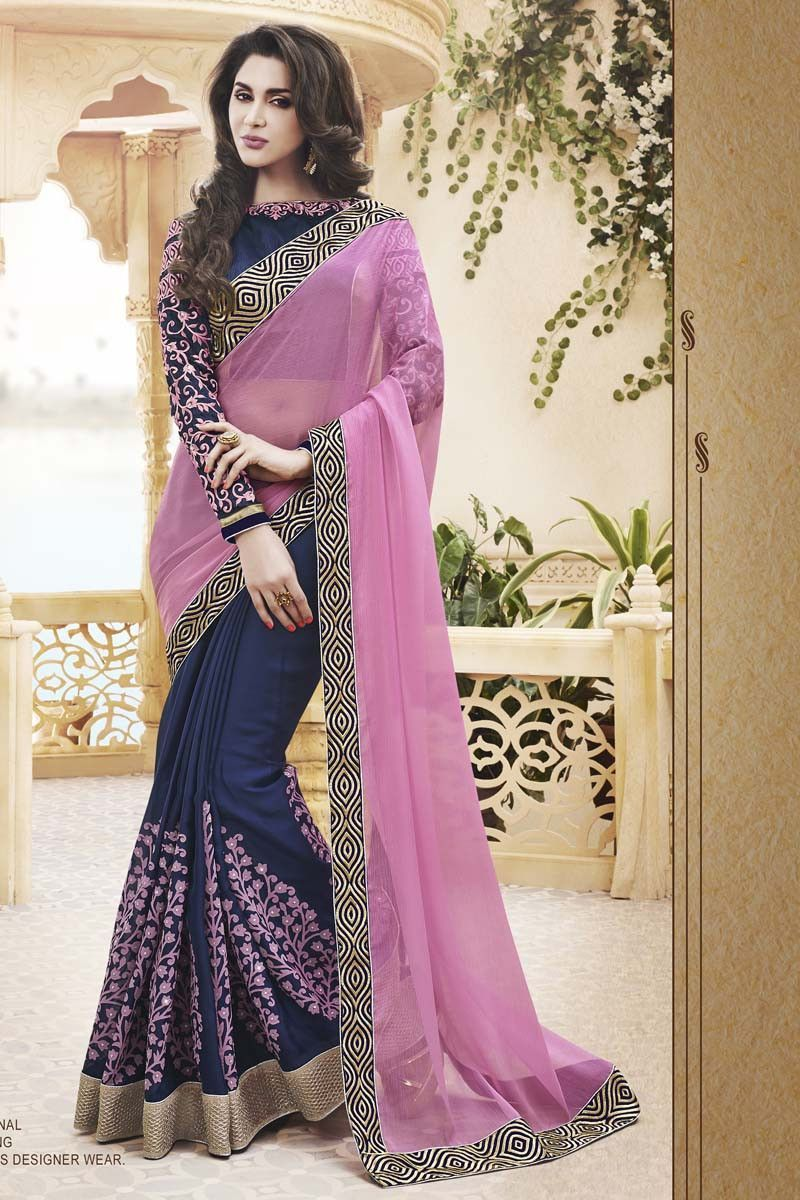 Buy Beige Georgette Party Wear Saree Online in low price at Variation. Huge collection of Party Wear Sarees for Party, Festivals, Engagements and Ceremonies. #party #partywearsarees #sarees #onlineshopping #latest #lowprice #variation. To see more - https://www.variationfashion.com/collections/party-wear-sarees