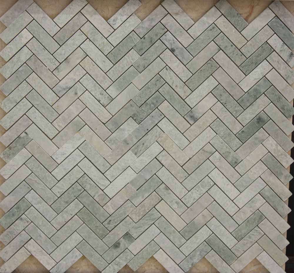 Ming Green Herringbone American Stone Collection