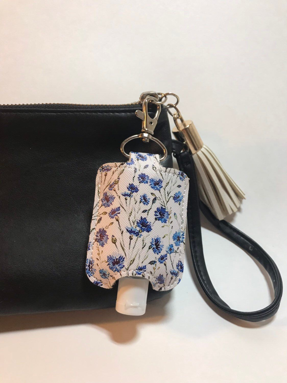 Hand Sanitizer Holder Keychain English Garden Hand Gel Case