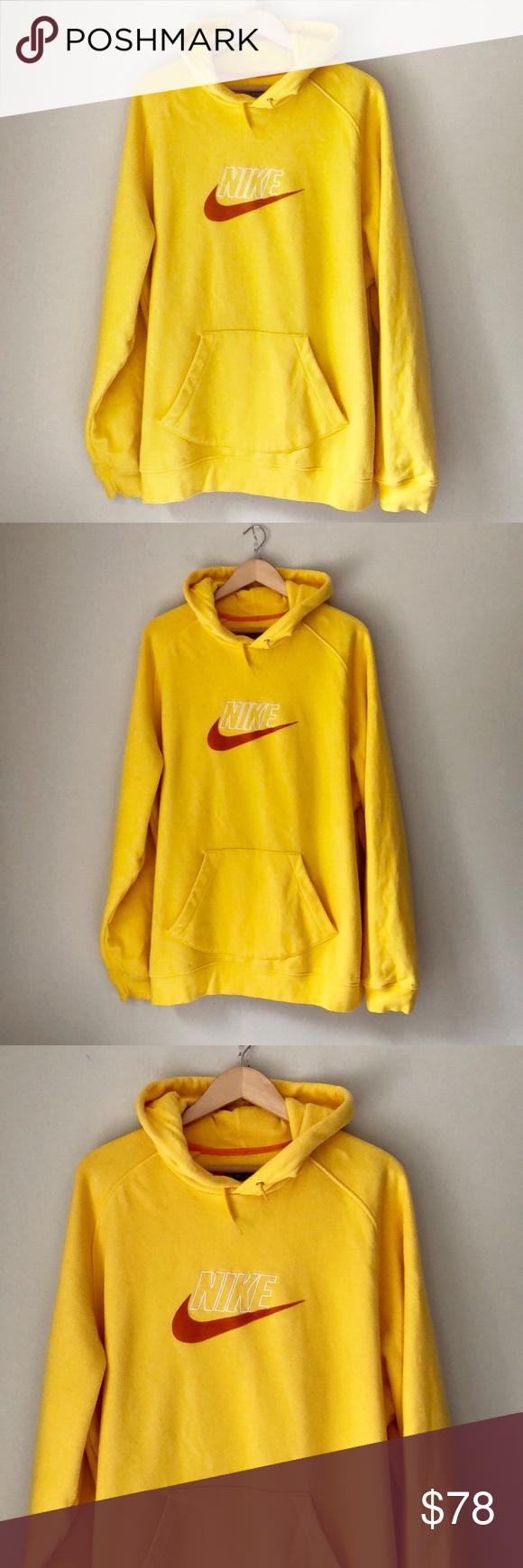 Nike Yellow Swoosh Sweatshirt Hoodie Sweatshirts Sweatshirts Hoodie Clothes Design [ 1740 x 580 Pixel ]