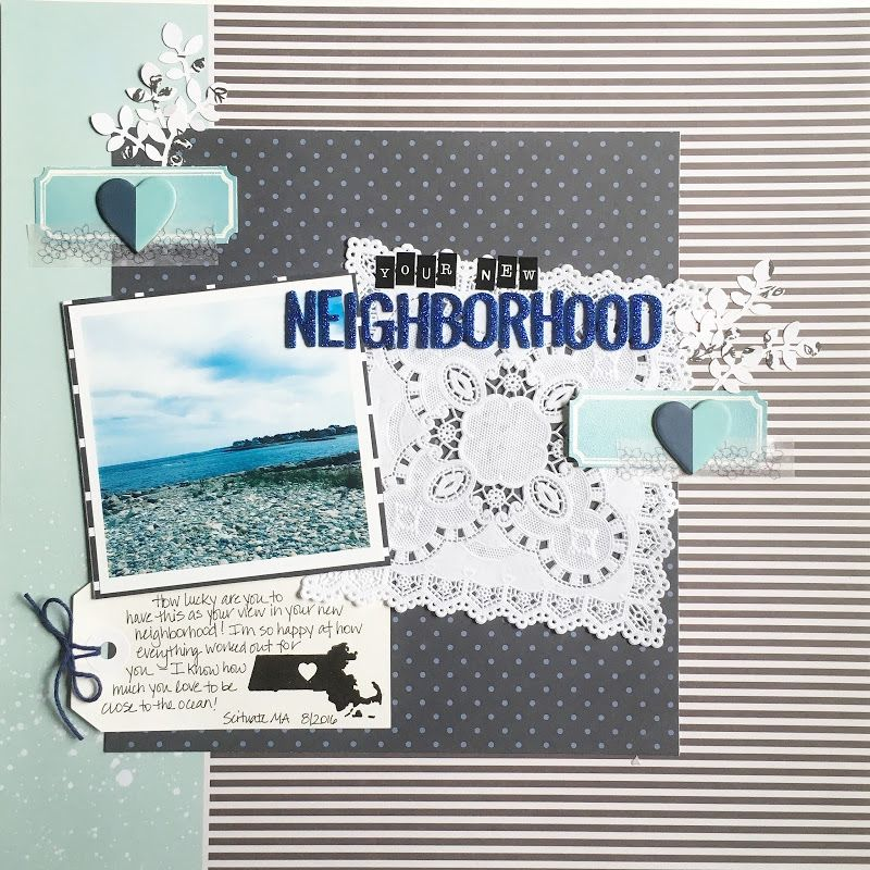 Little Things, Big Days simple scrapbook in with photos