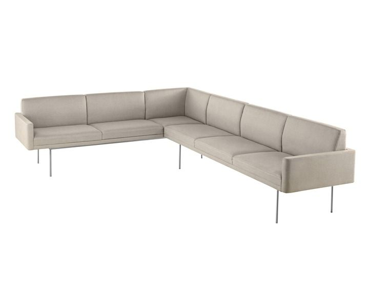 Geiger Tuxedo Sofa With Attached Settee Or