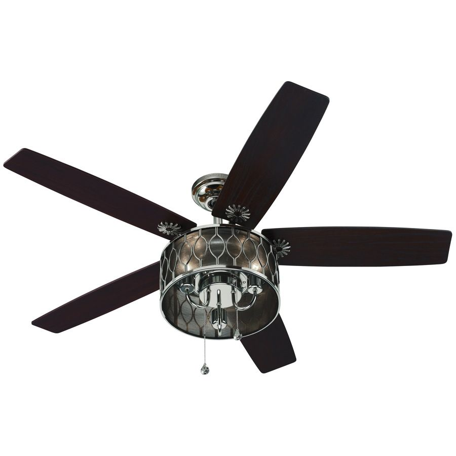 Harbor Breeze 52 In Angora Polished Nickel Indoor Ceiling Fan With Light Kit At Com