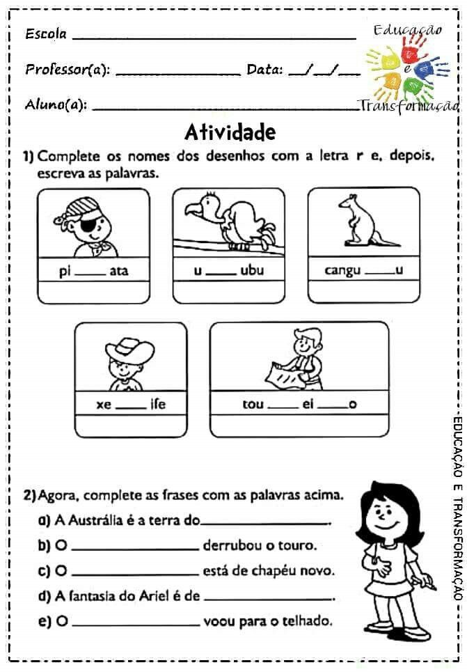 Pin De Benildemelo Em Silabas Atividade De Portugues Atividades