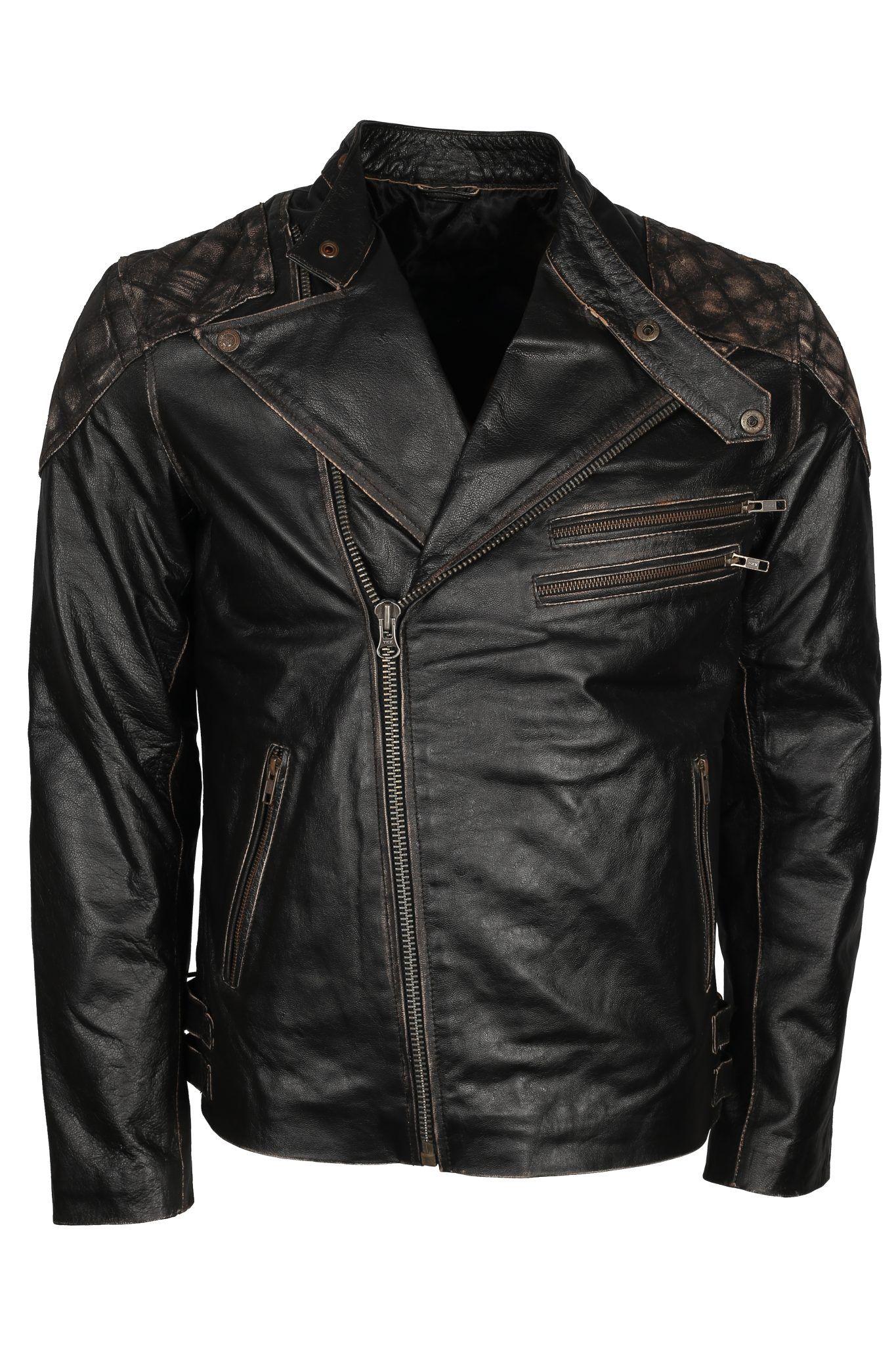 Skull Leather Jacket Mens Motorcycle Punisher Leather Jacket [ 2048 x 1365 Pixel ]