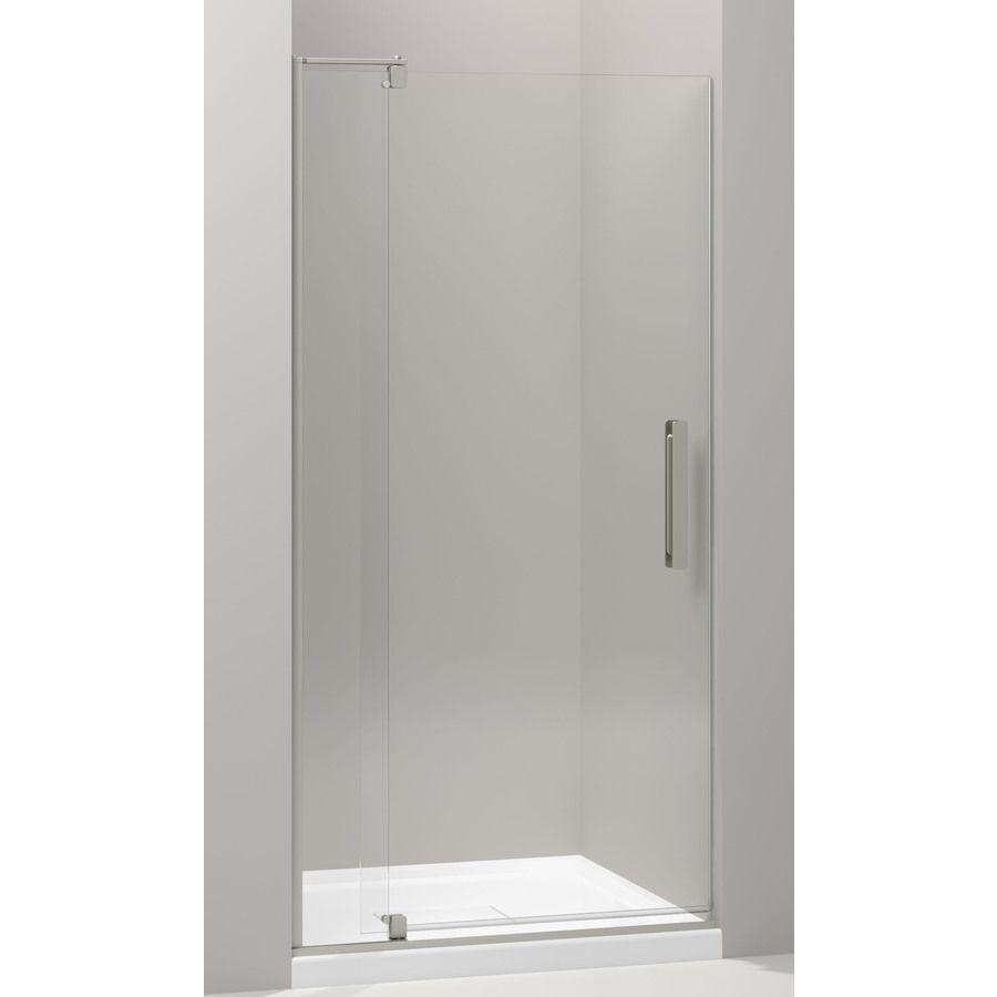 Kohler Revel 31 125 In To 36 In Frameless Pivot Shower Door With