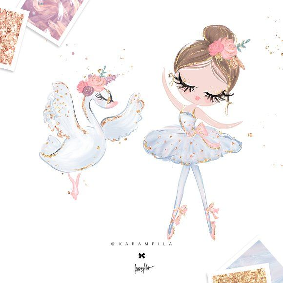 Swan Lake Clipart Ballerina Clipart - Il...
