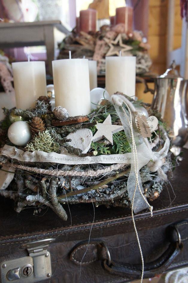 Adventskranz Stylish adventskranz adventskranz schneegestöber ein designerstück