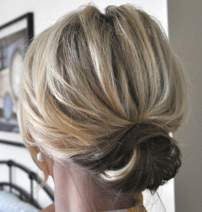 Hochsteckfrisuren kurze dunne haare