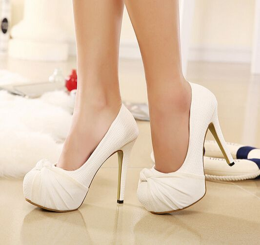 discount performance sportswear shades of Classy Bow Design White High Heel Shoes | Fashion ideas | Shoes ...