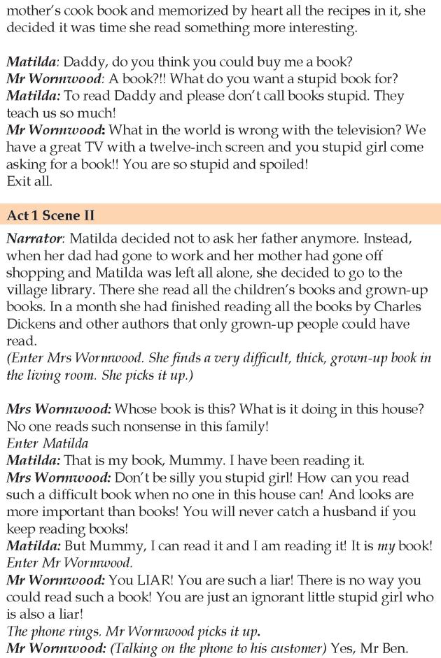 Grade 5 Reading Lesson 16 Play Matilda 2 | English reading ...