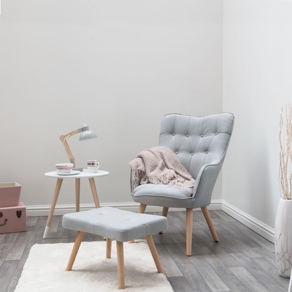 Alton Light Grey Chair Footstool From Crazypricebeds Com