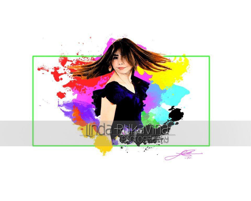 Senior portrait customized artwork by Rukavina Photography