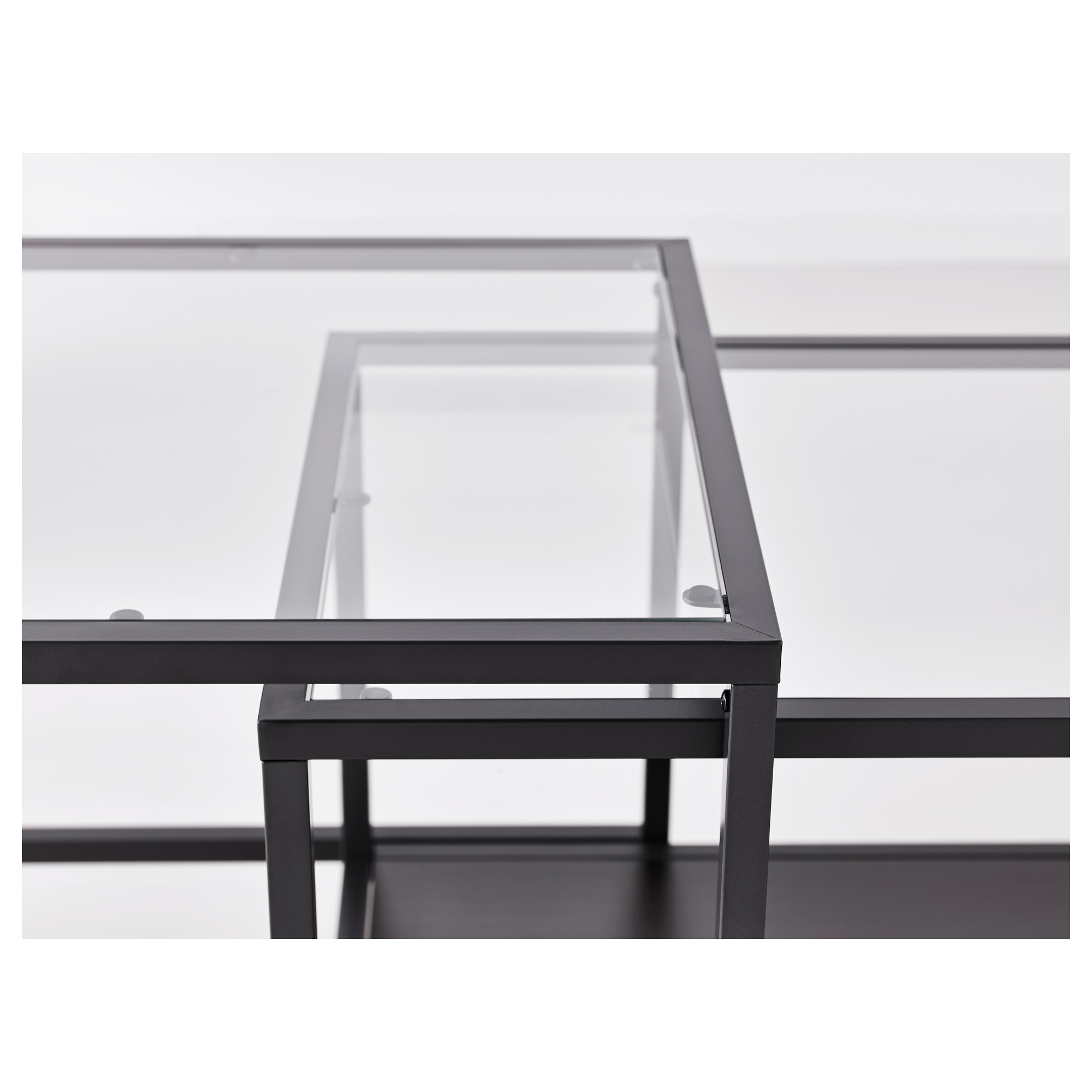 Vittsjo Bijzettafel Set Van 2 Zwartbruin Glas 90x50 Cm Ikea Bijzettafel Ikea Tafelbladen [ 2000 x 2000 Pixel ]