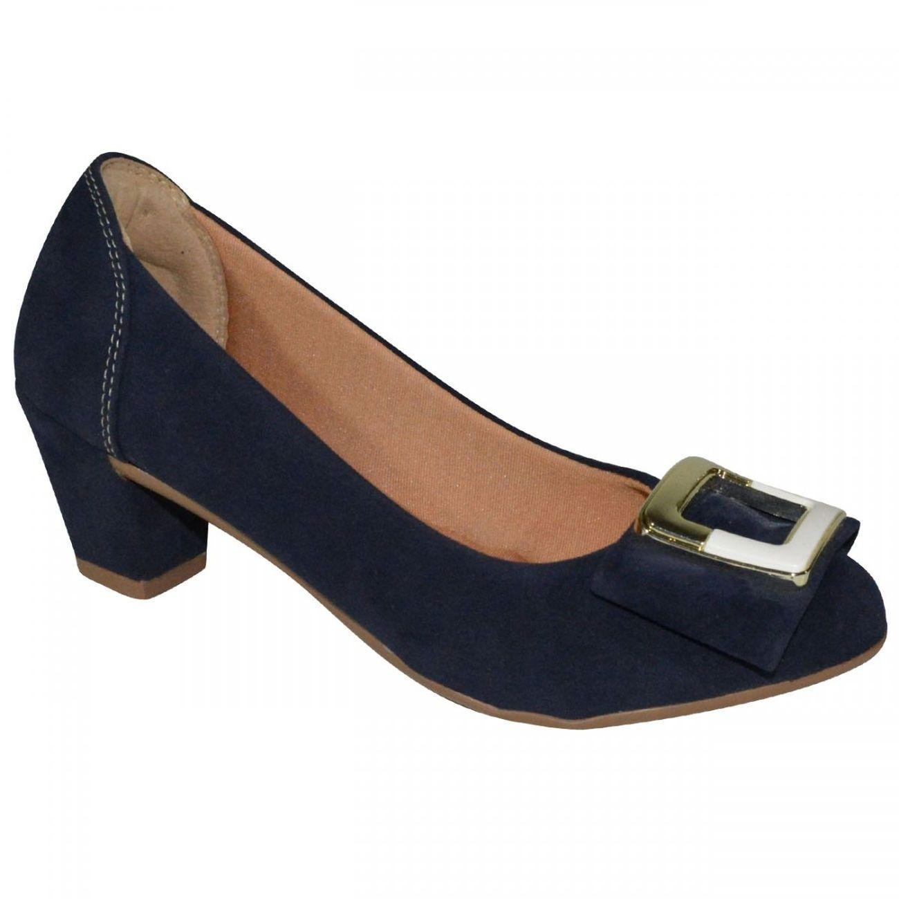 9f3b96837 Sapato Exclusiva - Marinho   Sapatos   Shoes, Heels e Peep toe