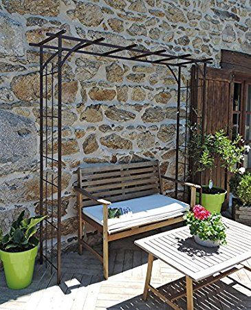 louis moulin grande pergola tube carr pour plante grimpante fer vieilli 187 x 40 x 198 cm 3036. Black Bedroom Furniture Sets. Home Design Ideas