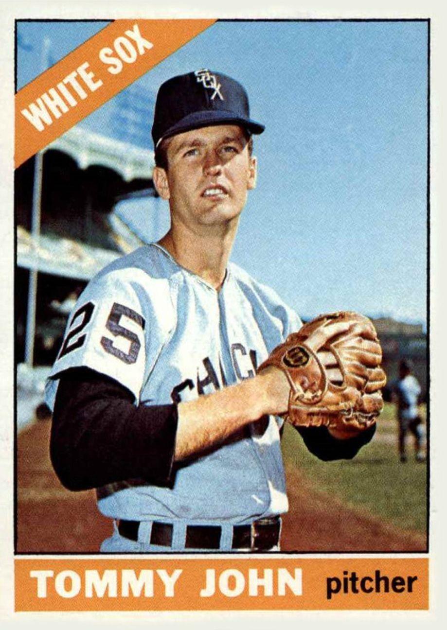 1966 topps tommy john white sox baseball chicago white