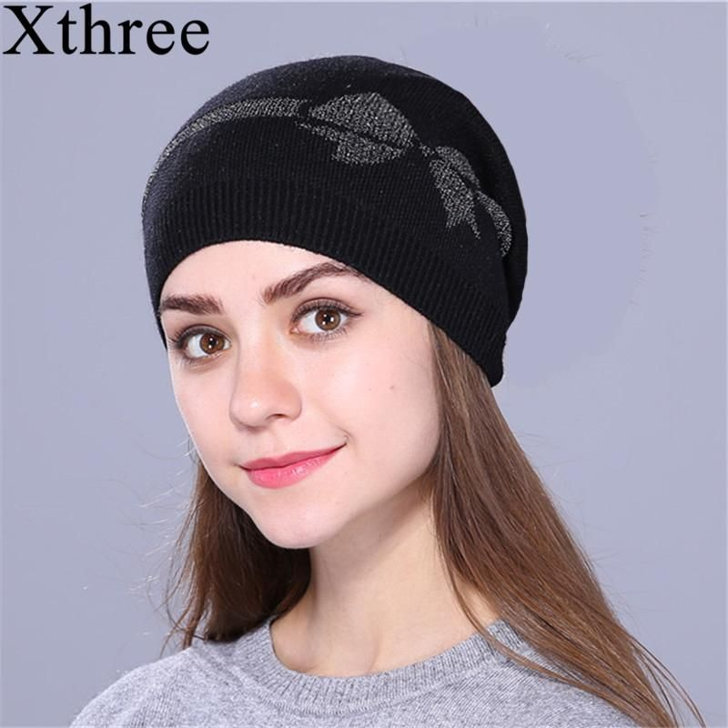 7291e293a9d8a Xthree Female Fall Spring Skullies Beanies Thin Knitted Hat For Women –  FuzWeb