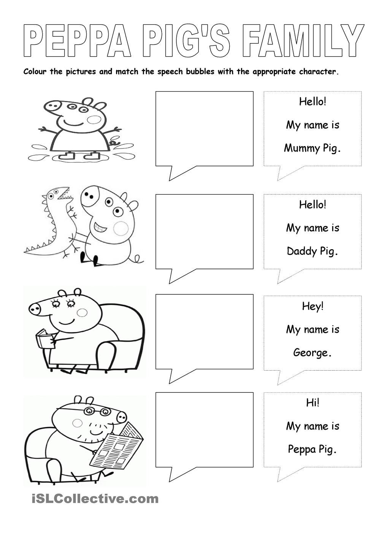 Worksheet: Peppa Pig, Cold Winter Day