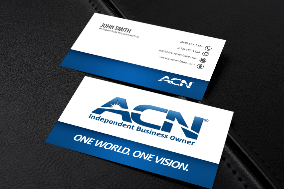 Acn Business Owners Take Your New Venture To The Next Level With One Of Our New Business Cards Mlm Acn P Free Business Cards Printing Business Cards Acne