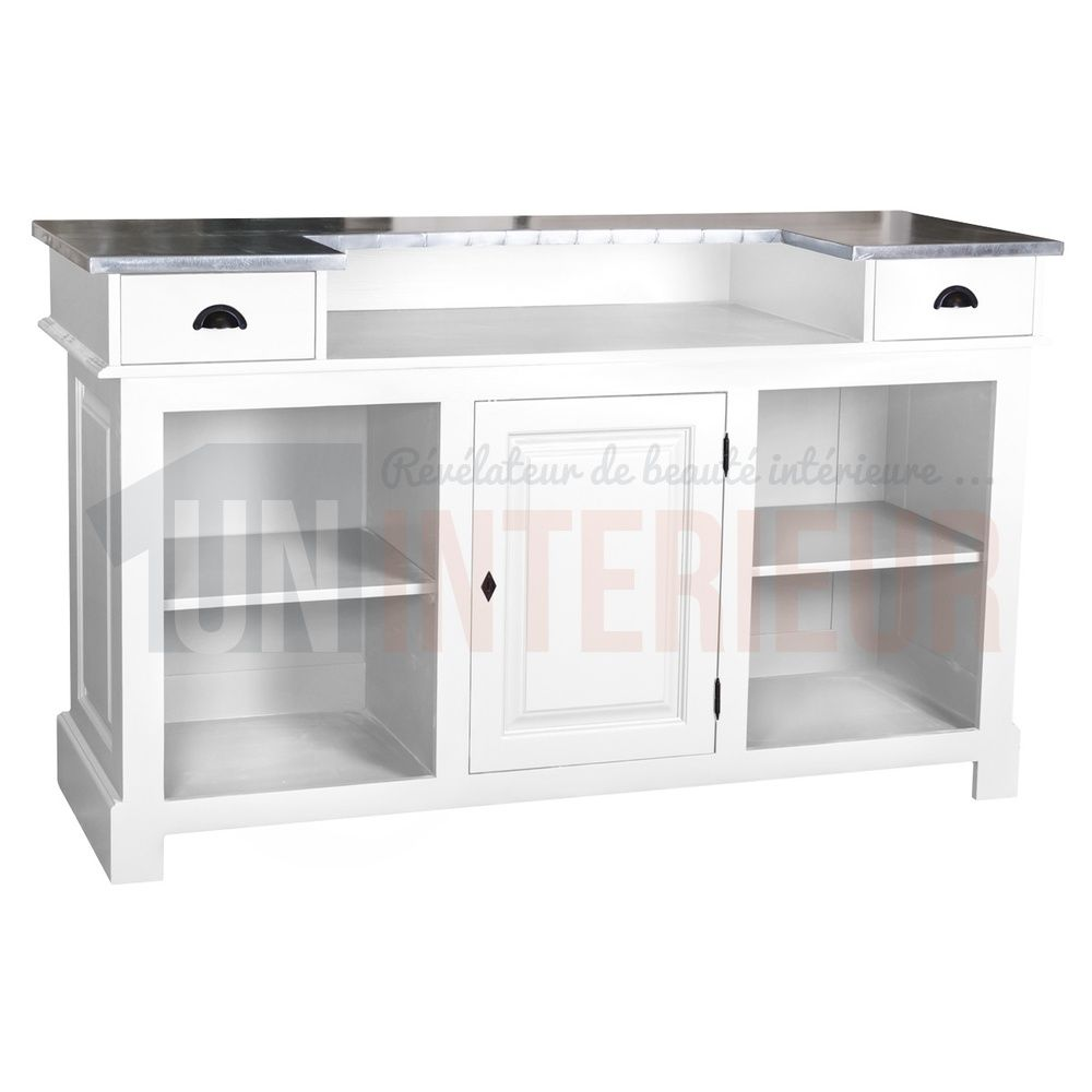 Meuble De Bar En Pin Massif 160cm Chester Meuble Bar Meuble Et Bar