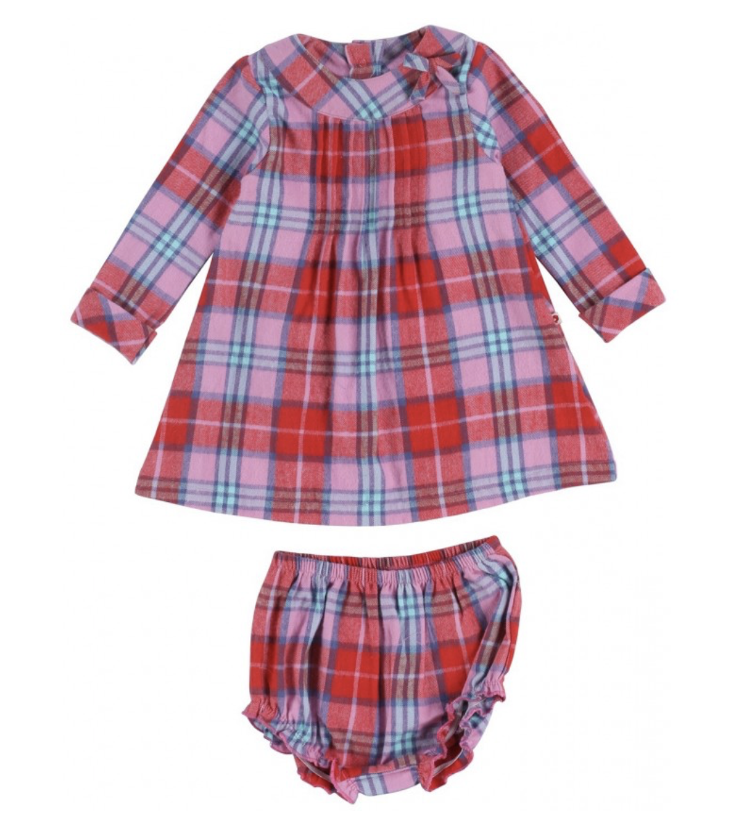 5e739f73d Tartan Check Baby Dress Set