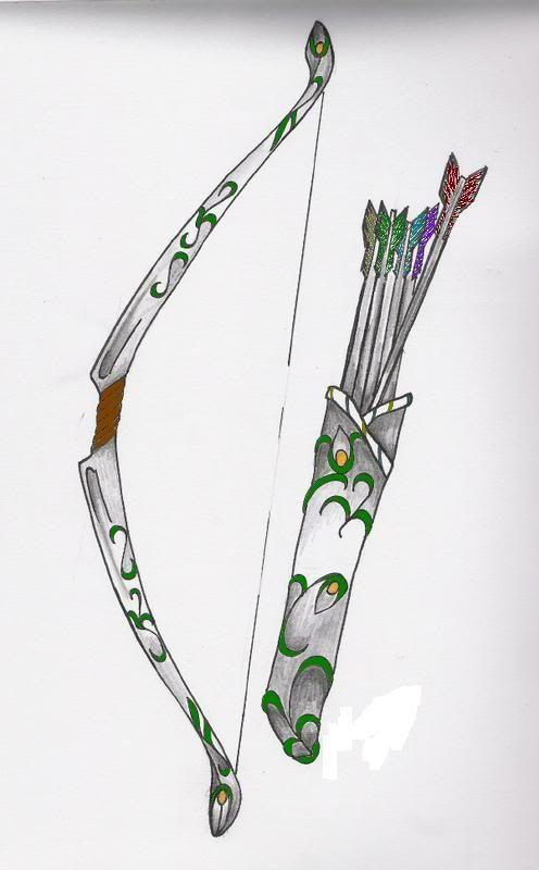 Greek Goddess Who Shot Arrows Artemis Symbol Bow And Arrow Ink