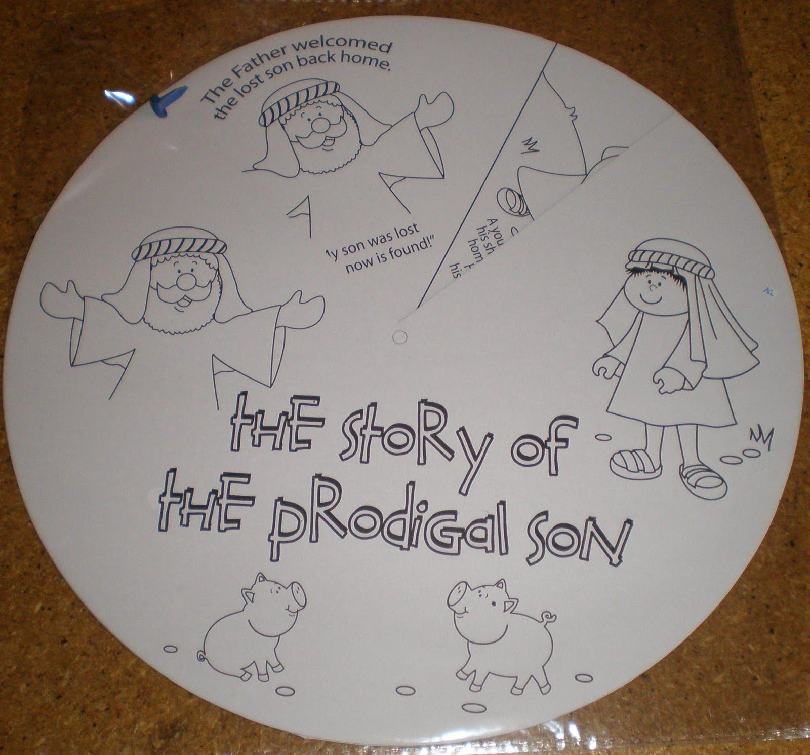 Colour Your Own Prodigal Son Parable Wheel Prodigal Son