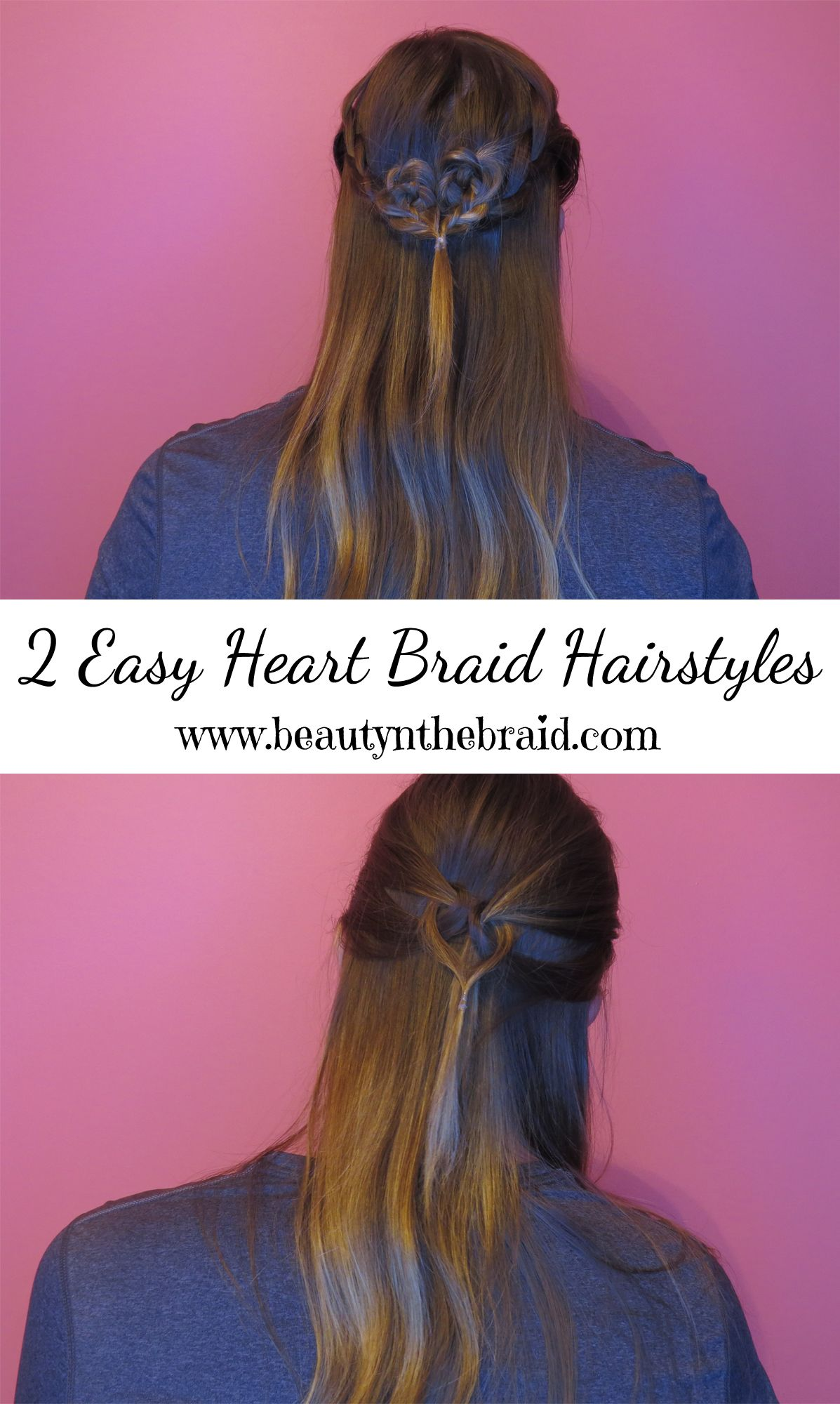 Click to see the tutorial on how to do these easy heart braid