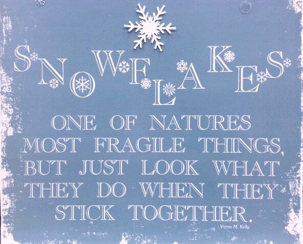 Christmas Quotes 21 Inspirational Sayings To Share During: Snowflake Quote For The Family :)