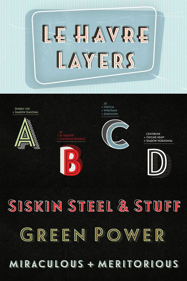 Weandthecolor Le Havre Typography Layers