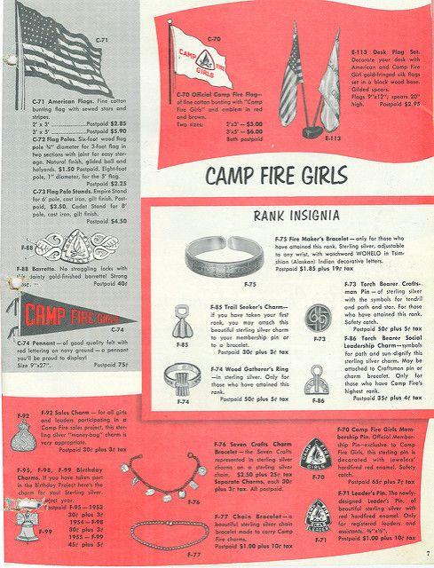 Camp Fire Girls Rank Insignia #campfire