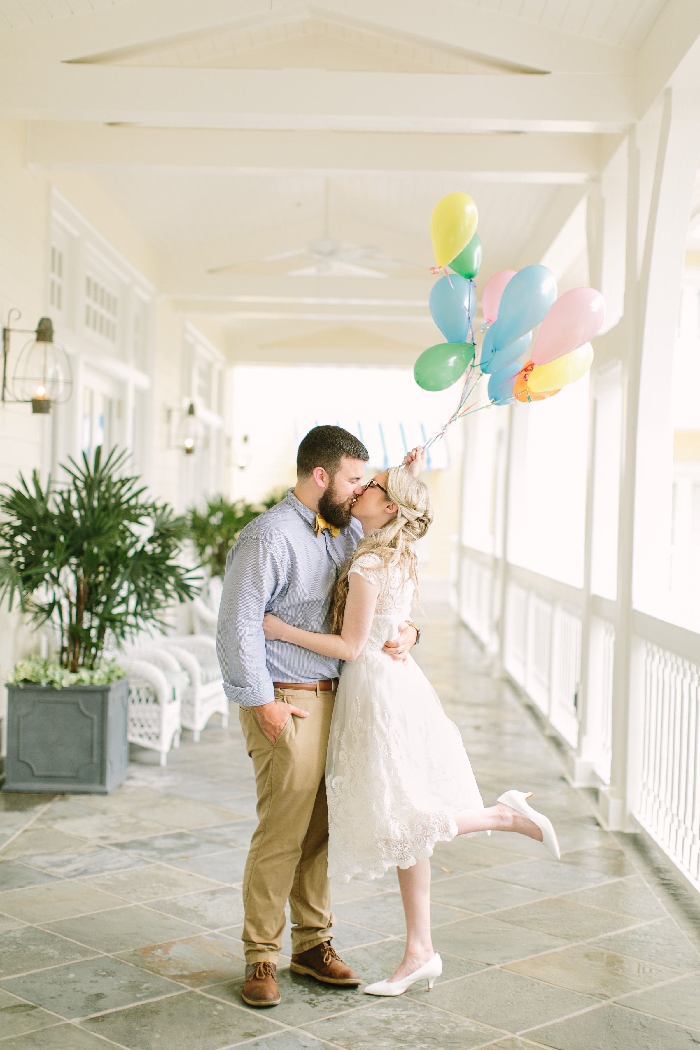 Rachelle and Dustin's sweet Up inspired wedding was beautiful!