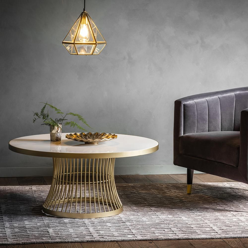 Edna coffee table champagne coffee table contemporary