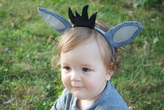Wool Felt Donkey Ears Headband By Thethreadhouse On Etsy