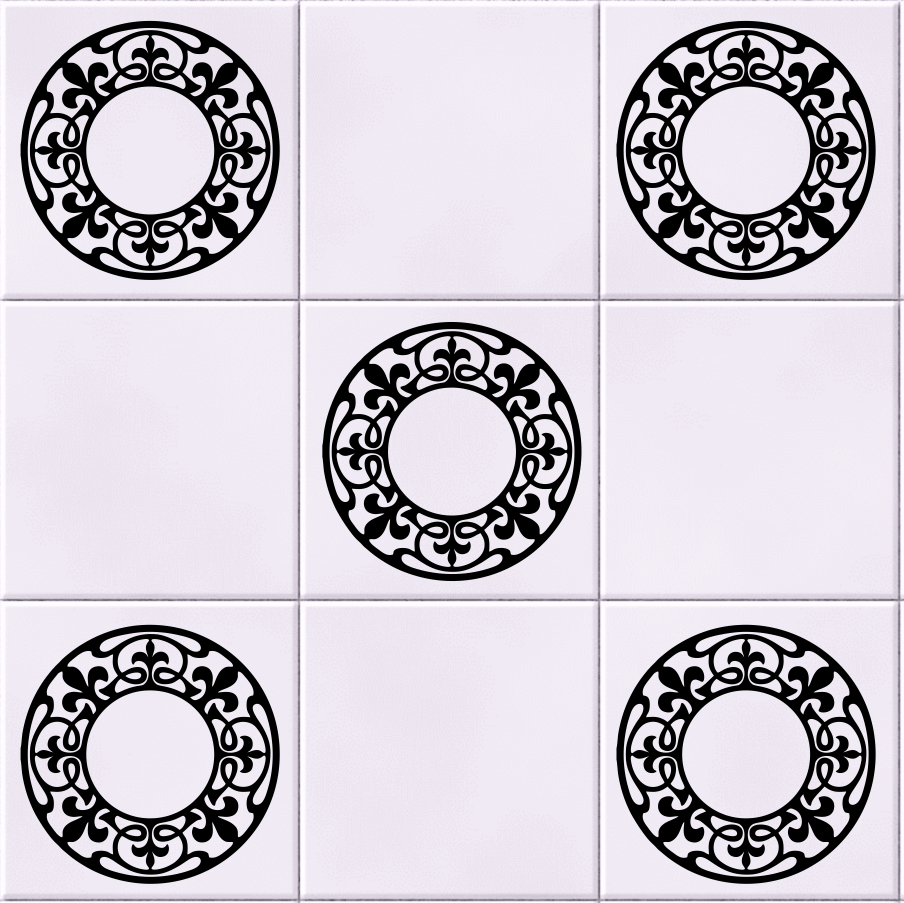 Pack of 5 Celtic Circle Tile Wall Sticker Decal | Wall/ Tile Art ...