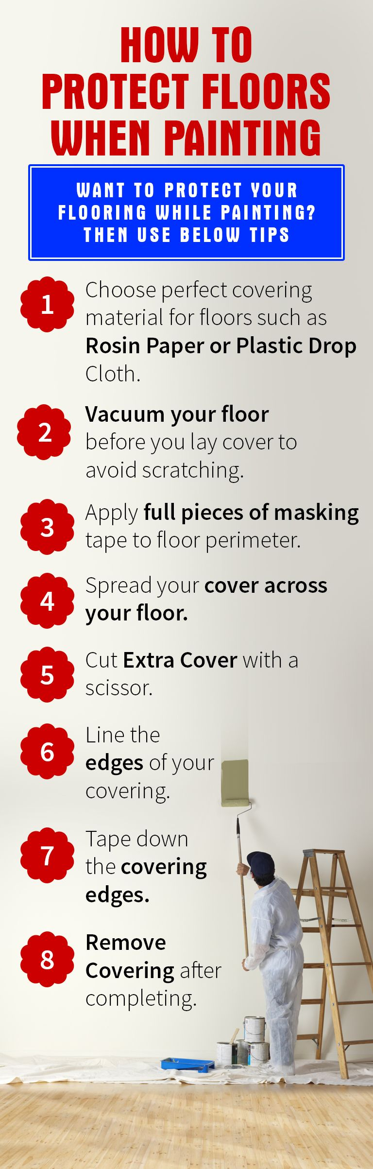 How To Protect Floors When Painting (Infographics) https