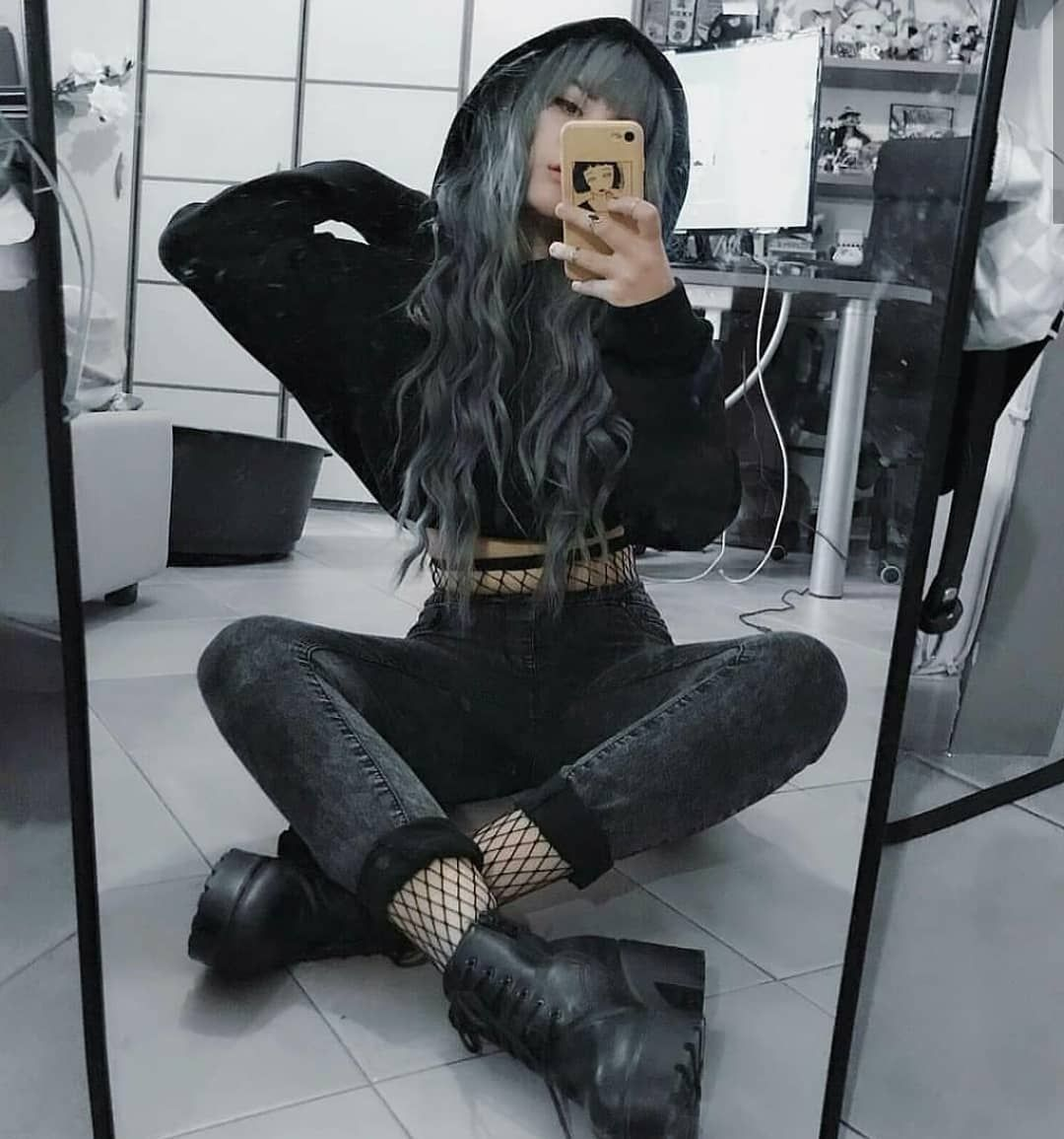 "Alternative Fashion ♡ on Instagram: ""#outfits 1, 2 or 3? via @rhuna.fox"" #grungegoth"