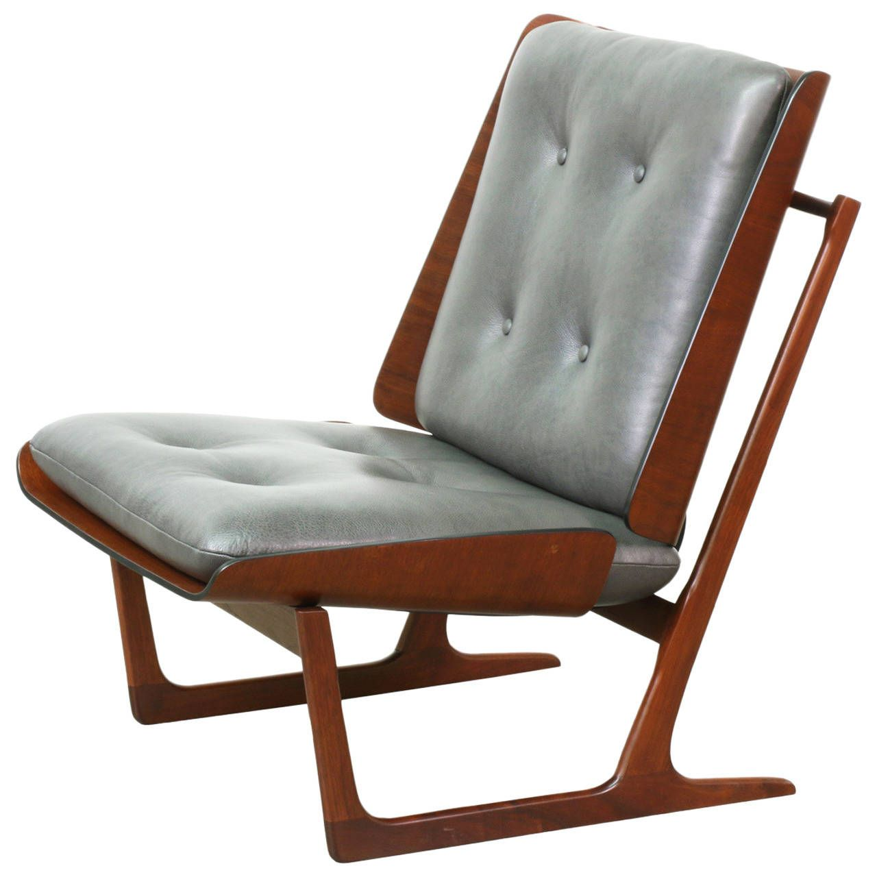 Wondrous Midcentury Molded Plywood Sled Lounge Chair Primrose Andrewgaddart Wooden Chair Designs For Living Room Andrewgaddartcom