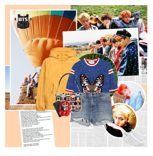 453:Meet BTS by unicorn-plushie on Polyvore featuring mode, Gucci, H&M, Alexander Wang, Beats by Dr. Dre, Fendi, adidas Originals, Spell & the Gypsy Collective, Again and botkpg